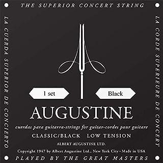 scheda augustine 650407 corde per chitarra classica, etichetta nera, set standard-cantini, tensione normale/leggera