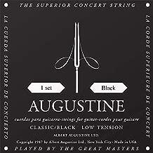 Augustine Black Low Tension Classical Guitar Strings (1 Set) (HLSETBLACK)
