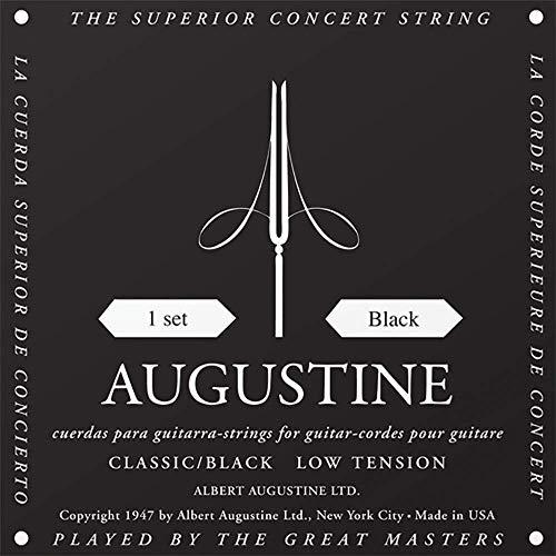 Augustine Cuerdas para Guitarra Clásica, Negro, Juego, Tensión Bajo