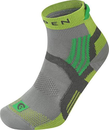 Lorpen X3T Mens Trail Running Calcetines, C-2748 Grey/Green, XL Unisex Adultos