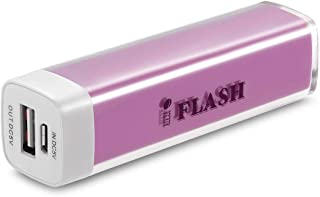 iFlash Lip Gloss 2600mAh Universal Mobile USB Portable Power Bank Charger 5V 1A output for Apple iPhone 5 4S 4 3Gs 3G, iPod Touch / Samsung Galaxy S3 S S2 S II, Galaxy Nexus / Blackberry Torch Bold Curve / HTC Sensation 4G, XE, XL, One X, Thunderbolt, EVO Shift 3D, Inspire / LG Optimus V 2X 3D t / Motorola,Nokia -- Purple Color, Retail Package