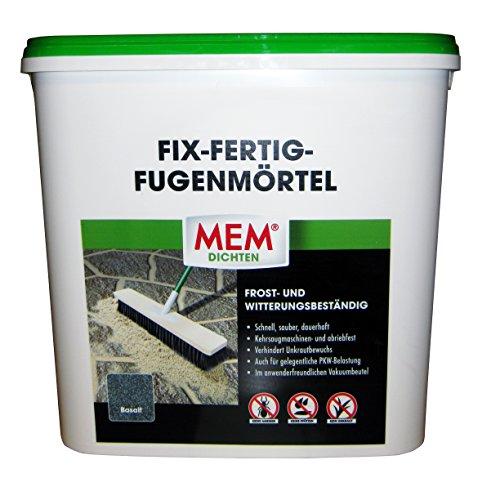 Mem Fix und Fertig Fugenmörtel, Basalt, Keine Ameisen, Keine Pfützen, 12,5 kg