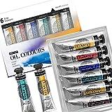 PHOENIX Artist Grade Oil Paint Set 6 Tubes x 40ml (1.35 Oz.) - Oil Painting Colors for Professionals Artists