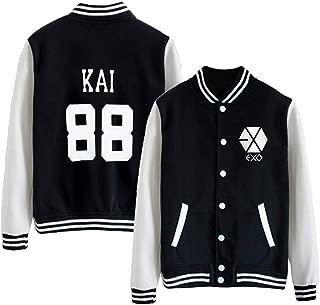 Kpop EXO EXO-M EXO-K Varsity Baseball Jacket Overcoat
