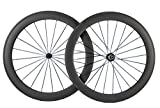 Superteam 700c 60mm 3k Superlight Carbon Clincher Wheelset Cycling Racing Wheels 20/24h (Shimano...