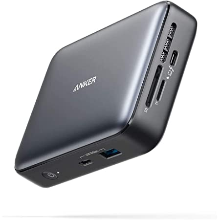 Anker PowerExpand 7-in-1 Thunderbolt 3 Mini Dock ドッキングステーション 4K対応 HDMIポート1Gpbs イーサネット USB-Aポート USB-Cポート microSD&SDカードスロット 搭載