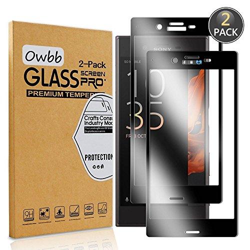Owbb [2 Pièces] Film Protecteur D'écran en Verre Trempé pour Sony Xperia XZ/XZS (5.2 Pouce) Noir Couverture Complète Protection 99% Haute Transparent Anti-déflagrant