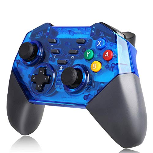 TUTUO Controlador inalámbrico para Nintendo Switch Bluetooth Joystick Mando Gamepad Dual Motor Axis Gyro Turbo Compatible con Nintendo Switch
