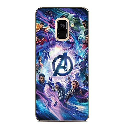 Ddftet Protect Clear Coque Soft TPU Wireless Charging Liquid Silicone Cover Case For Samsung Galaxy A6-Superhero-Mv 9