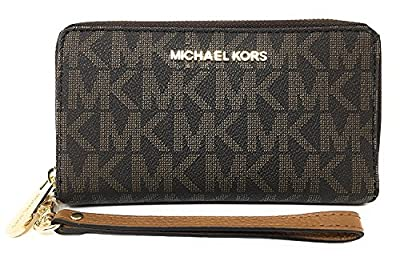 Michael Kors Jet Set Travel Large Flat Multifunction Phone Case Wristlet