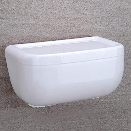 Badkamer Tissue Box Geperforeerd - Gratis Toilet Tissue Box Waterdicht Huishoudelijk Creatief Toiletpapier Rack Toiletpapier Tissue Papier Doos Kleur: wit