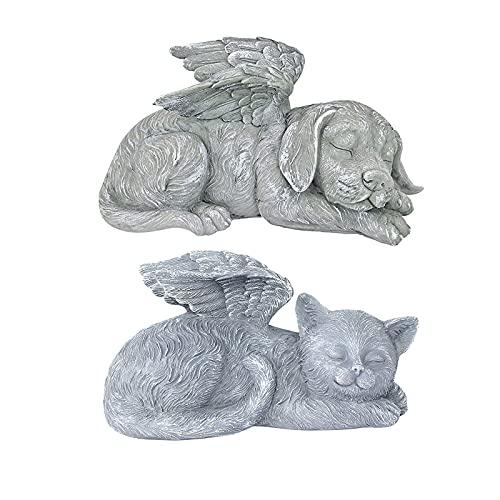 Engelsfigur für Haustiere, Gedenkstatue, schlafender Engel, Hund, Katze, Dekoration, Gedenkskulptur, Steinfigur, Kunstharz, Gartendekoration