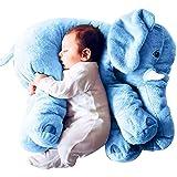 Tickos Baby Elefant Kissen Kinder Elefant Spielzeug Grau Elefant Kopfkissen Perfekte Geschenke für...