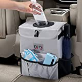 Waterproof Car Trash Can Garbage Bin,Super Large Size Auto Trash Bag for Cars with Lid and Storage Pockets,Leak Proof Vehicle Car Organizer Hanging