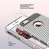 iPhone 6s hülle, ULAK iPhone 6 hülle Dual Layer Case Cover Hybrid Schild TPU + PC Hard Case Cover für iPhone 6s / 6 4,7 Zoll (Roségold Streifen + Grau) - 5