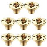 Écrou à Vis en Laiton, 8 Pièces T8 Écrou Vis Trapézoïdale Écrou Bride en Laiton Résistant à la Corrosion pour 8mm Fil Tige Filetée RepRap i3 3D Imprimante Z Axe