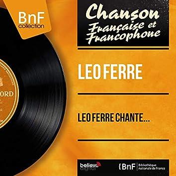 Léo Ferré chante... (feat. Paul Mauriat et son orchestre, Franck Aussman et son orchestre) [Mono Version]