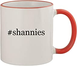 #shannies - 11oz Ceramic Colored Rim & Handle Coffee Mug, Red