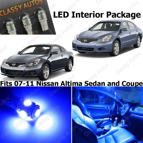 Classy Autos Nissan Altima BLUE Interior LED Package (7 Pieces)