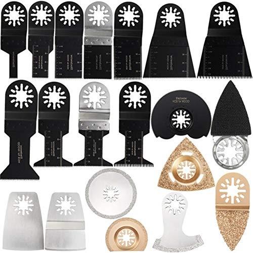 Great Deal! Oscillating Tools 20pcs Blades Kit For Fein Makita Bosch Multitool Oscillating Multitool...