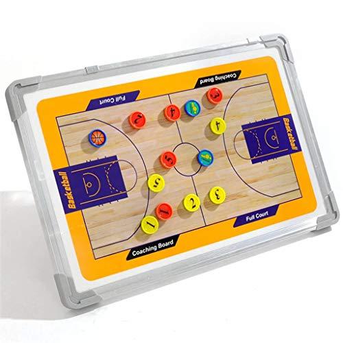 LPing Doppelseitiges Magnettrainer-Board,Fußball,Basketball,Volleyball-Taktik-Board,Strategie-Zwischenablage-Kit,mit trockenem Radiergummi,Markierungsstift,Magnet