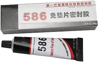 Eruditter Sellador De Motor, Junta Libre De Silicona Negra 586 Impermeable Al Aceite Resistente Sellador De Alta Temperatura Pegamento Reparador 55g