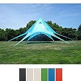 CLP Carpa en Forma de Estrella I Carpa de Eventos con 10 Metros de Diámetro I Carpa de Jardín con un �rea Cubierta de 15 m² Aprox. I Color: Azul