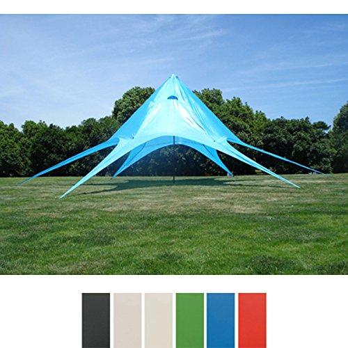 CLP Sternzelt für den Garten I Event-Zelt mit 10 Meter Durchmesser I Gartenzelt mit Einer überdachten Fläche von ca. 15 m² I erhältlich Blau