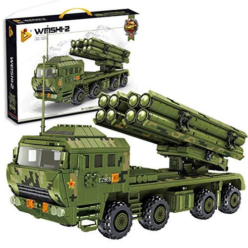 HZYM Lanzador de cohetes de 1185 piezas de calibre grande WW2 militar, compatible con Lego Technic