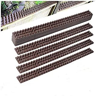 comprar comparacion Forever Speed Pinchos para defensa de pájaros de contra palomas, gorriones y pichones, color marrón, 49 x 4,5 x 1,7 cm (la...
