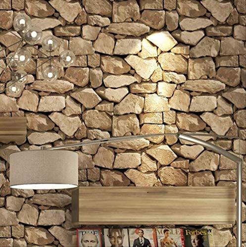 libby-nice Wallpaper 3d Stereo Brick Wallpaper Rock Fake, Striped Restaurant Hot Pot Hotel Living Room Background Wall 3d Wallpaper Roll B