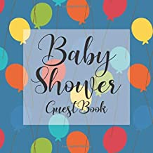 Baby Shower Guest Book: Colorful Balloons Orange Red Yellow Green Blue Theme - Gender Reveal Boy Girl Signing Sign In Guestbook, Welcome New Baby with ... Prediction, Advice Wishes, Photo Milestones