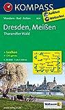 Dresden - Meißen - Tharandter Wald: Wanderkarte mit KOMPASS-Lexikon, Rad- und Reitwegen. GPS-genau. 1:50000: Wandelkaart 1:50 000 (KOMPASS-Wanderkarten, Band 809)