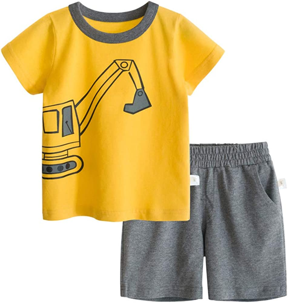 BINIDUCKLING Boy Short Cheap super special price Sleeve T-Shirt and Summe Pcs Sale item Shorts Kid 2