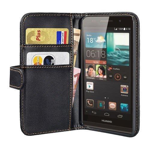 PEDEA Bookstyle Hülle für Huawei Ascend P6 Tasche, schwarz