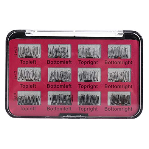 Delighted 12Pcs/6 Pairs Magnetic 3D False Eyelashes Long Natural Eye Lashes Extension
