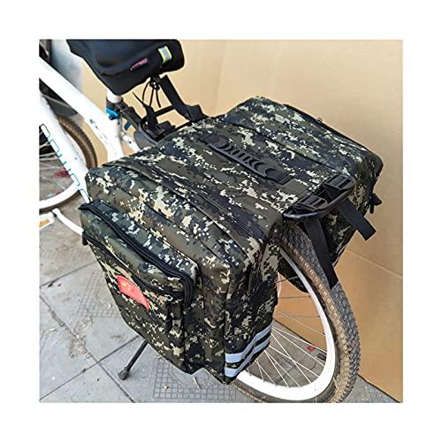 Alforja Para Bicicletas Bicicleta de bicicleta de carretera de montaña 2 en 1 bolsas de tronco de camuflaje ciclismo doble lado trasero trasero asiento de cola Paquete de Pannier Papelera Bolsa Alforj