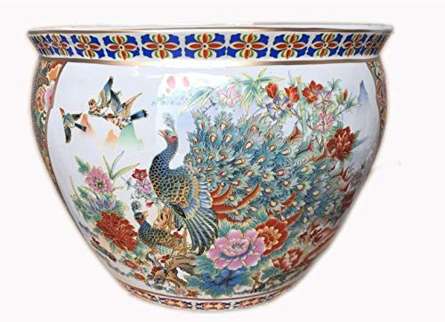 Oriental Furnishings Japanese Satsuma Peacock Vase (16