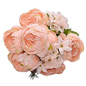 13Pcs/Bunch Artificial Peony Silk Fake Flower Peonies For Home Hotel Decor DIY Wedding Decoration Wreath,E