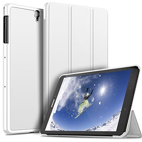 ELTD Funda Carcasa para Samsung Galaxy Tab S3 9.7, Ultra Delgado Stand Función Smart Fundas Duras Cover Case para Samsung Galaxy Tab S3 9.7 Tableta, (Blanco)