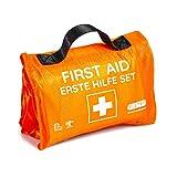 Botiquín de primeros auxilios para el exterior, para senderismo, esquí, escalada, formato práctico de rollo, cabe en cualquier mochila, repelente al agua (59 piezas, naranja)