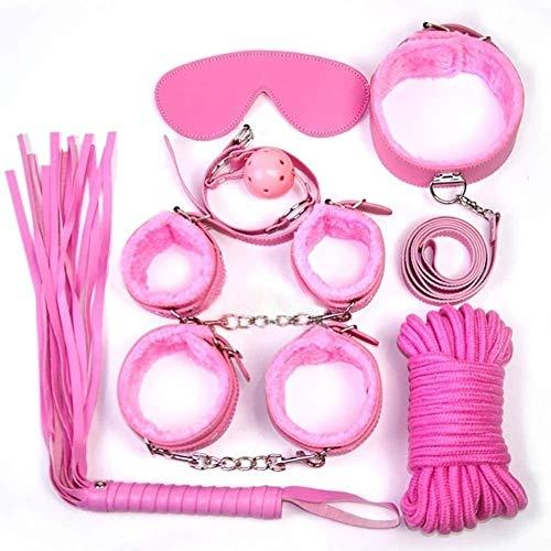 Yoga-Praxis 7 PCS Set Nylon Verstellbare Paar Game Bekleidung Accessoires Leder Bett Bündelung Spielzeug (Color : A)