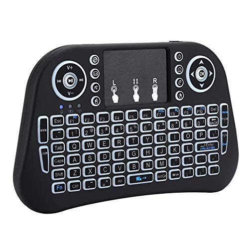 Pbzydu Portable Wireless Keyboard, 2.4G Wireless Mini Blacklight Mini Keyboard, Black i10 for Travelling Gaming