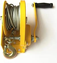 XINGXINGNS Hand Winch Crank Gear Winch & Cable Heavy Duty 100 feet, up to 4000lbs for Trailer, Boat or ATV