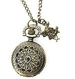 Alice in Wonderland Costume Steampunk Pocket Watch Necklace Women Men Gift