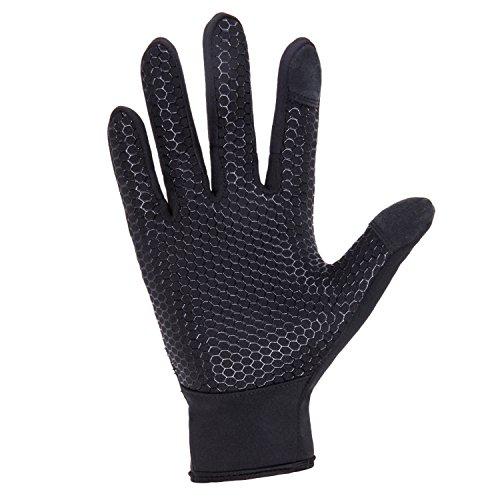 UPhitnis Herbst Winter Fahrradhandschuhe für Herren Damen - Outdoor Winddicht Touchscreen Handschuhe - Winterhandschuhe für Lauf Radfahren Jagd Sports - 2