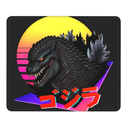 Gaming Mouse Pad Retrowave Godzilla Non-Slip Rubber Base Mouse Pads for Computers Laptop Office 12.01'X9.84'X0.02' Inch