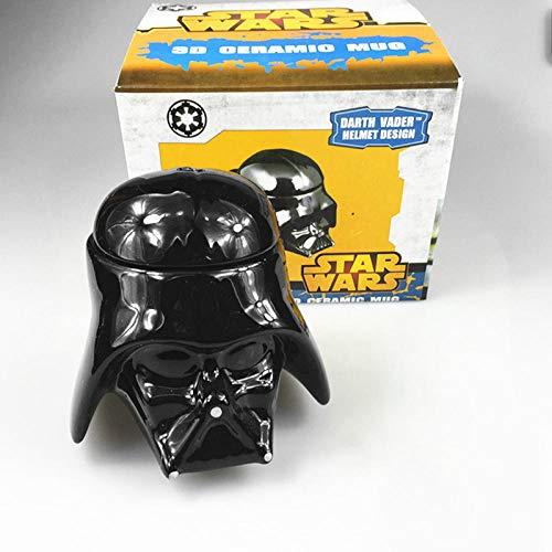 Persönlichkeit Keramik Tassen Hot Movie Star Wars Schwarz Weiß Samurai Kaffeetasse Charakter Darth Vader Tassen Kaffeetassen Trinkgeschirr GIF-Schwarz