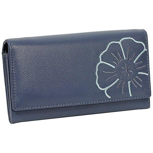 Branco Damen Leder Geldbörse blau