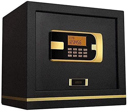XBR Cajas Fuertes de Alta Seguridad Caja Fuerte para el hogar Pernos de Bloqueo motorizados Pantalla LCD Smart Home Wall Ignífugo Mini Safe Gold Money Safe
